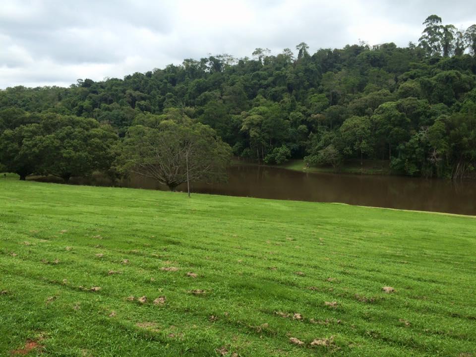 Vista do lago: muito verde por todos os lados!