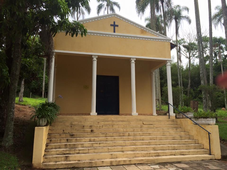 A Capela, que ainda pode ser utilizada para casamentos na propriedade.