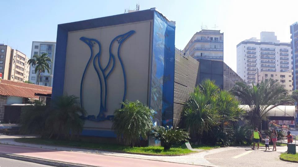 A fachada do Aquário