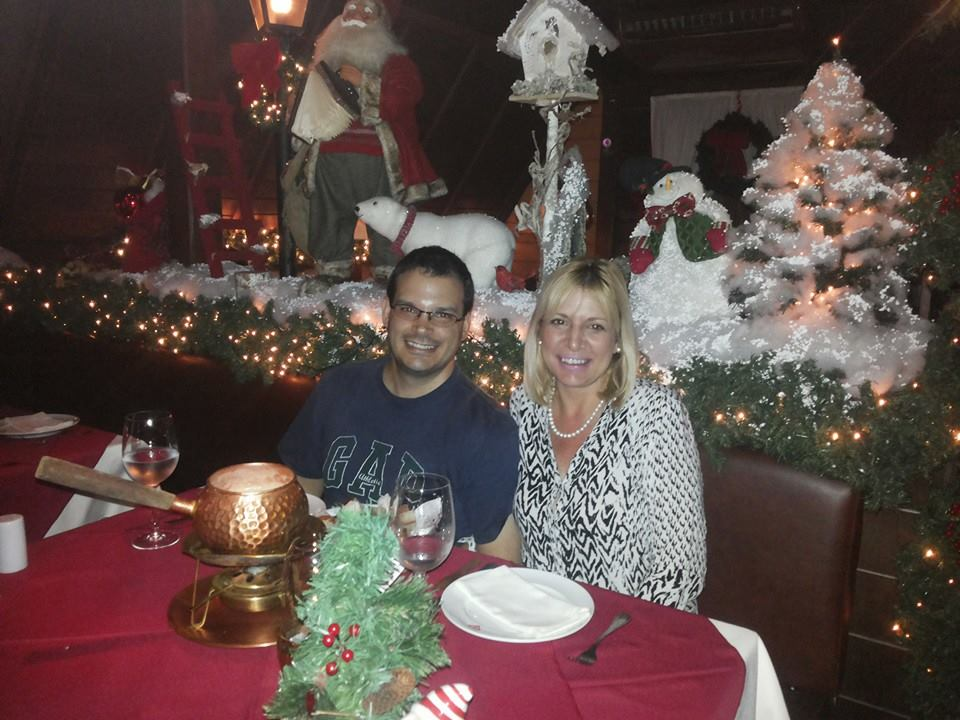 Clima romântico e cercados com a linda e caprichada decoração de Natal