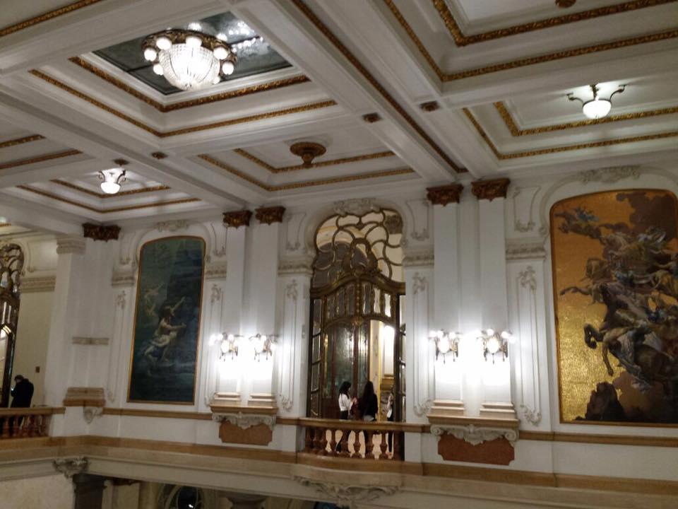 O teatro visto de dentro, puro luxo!