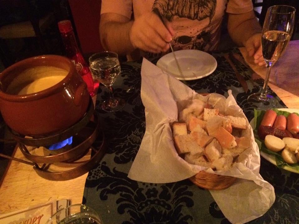 O fondue de queijos
