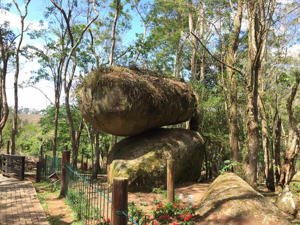 A escultura natural que dá nome ao parque