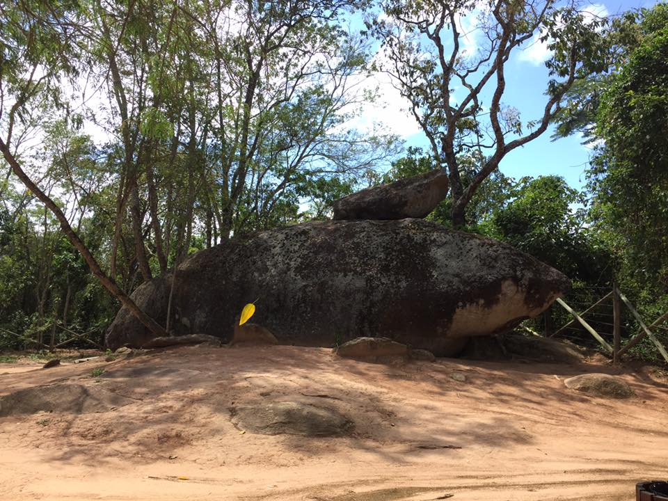 Uma pequena trilha leva à Pedra do Tubarão....