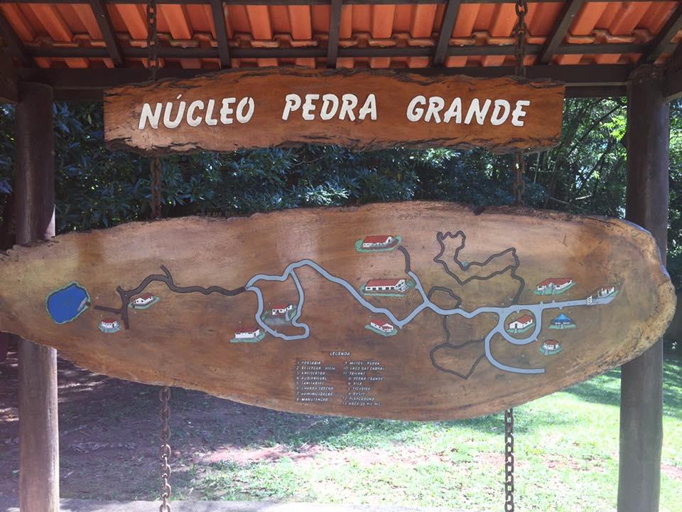 A entrada do Núcleo Pedra Grande