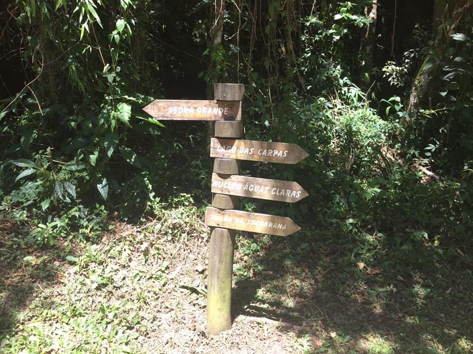 Todas as trilhas são muito bem sinalizadas