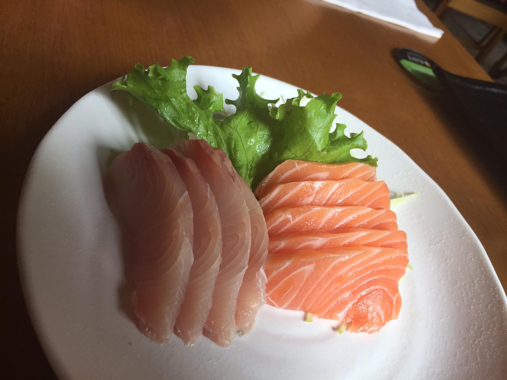 o sashimi não pode faltar