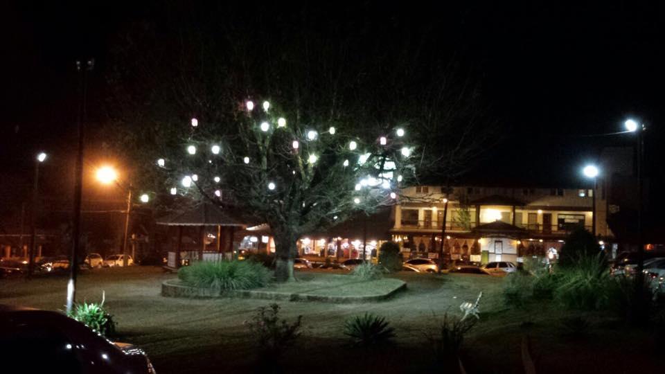 Vista do centrinho a noite!