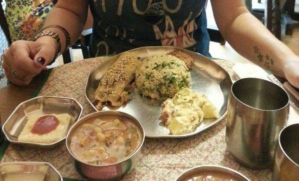 Menu completo do dia, comida saborosa e muito saudável