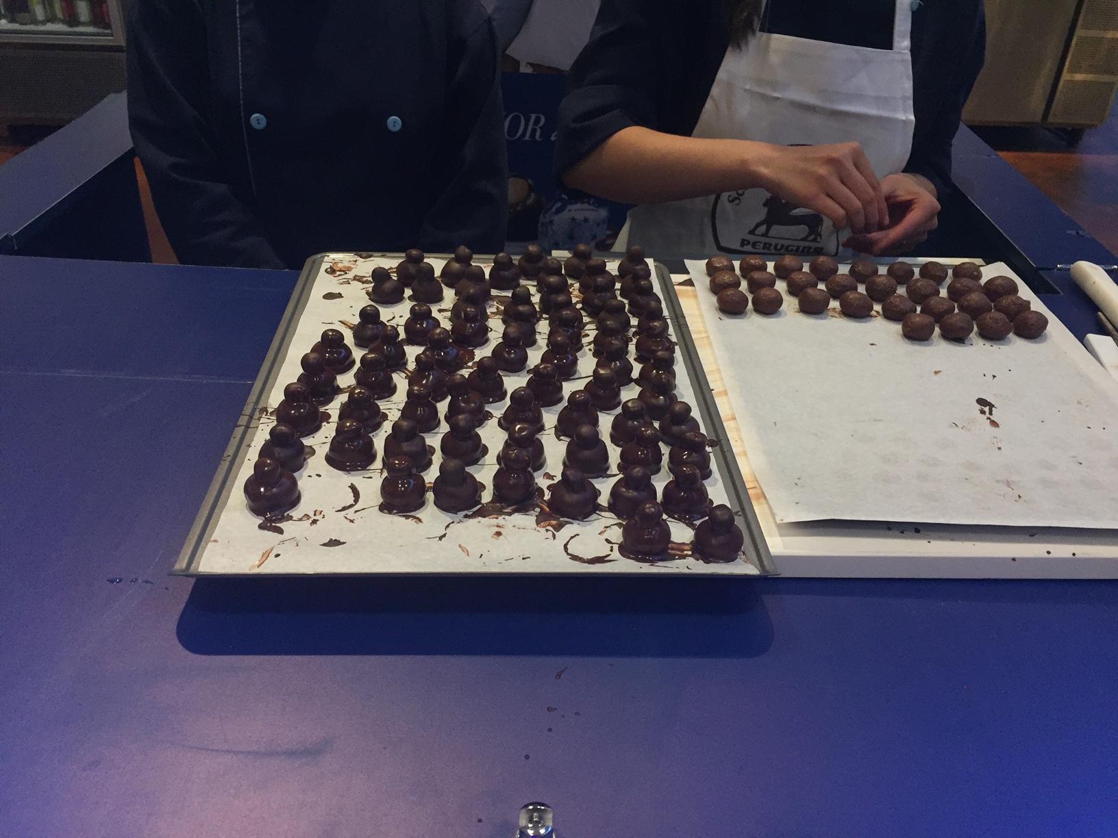 Chocolates feito na hora