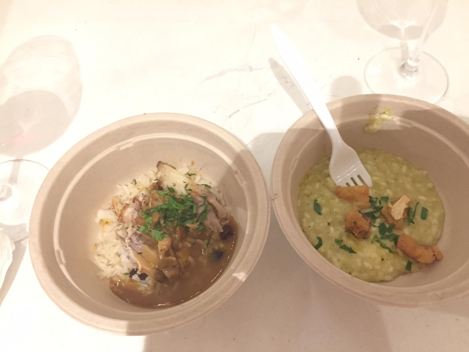 do Le Verdure: Arroz com frutas secas e peru assado (esse foi o único que nao gostei muito) e risoto de bacalhau