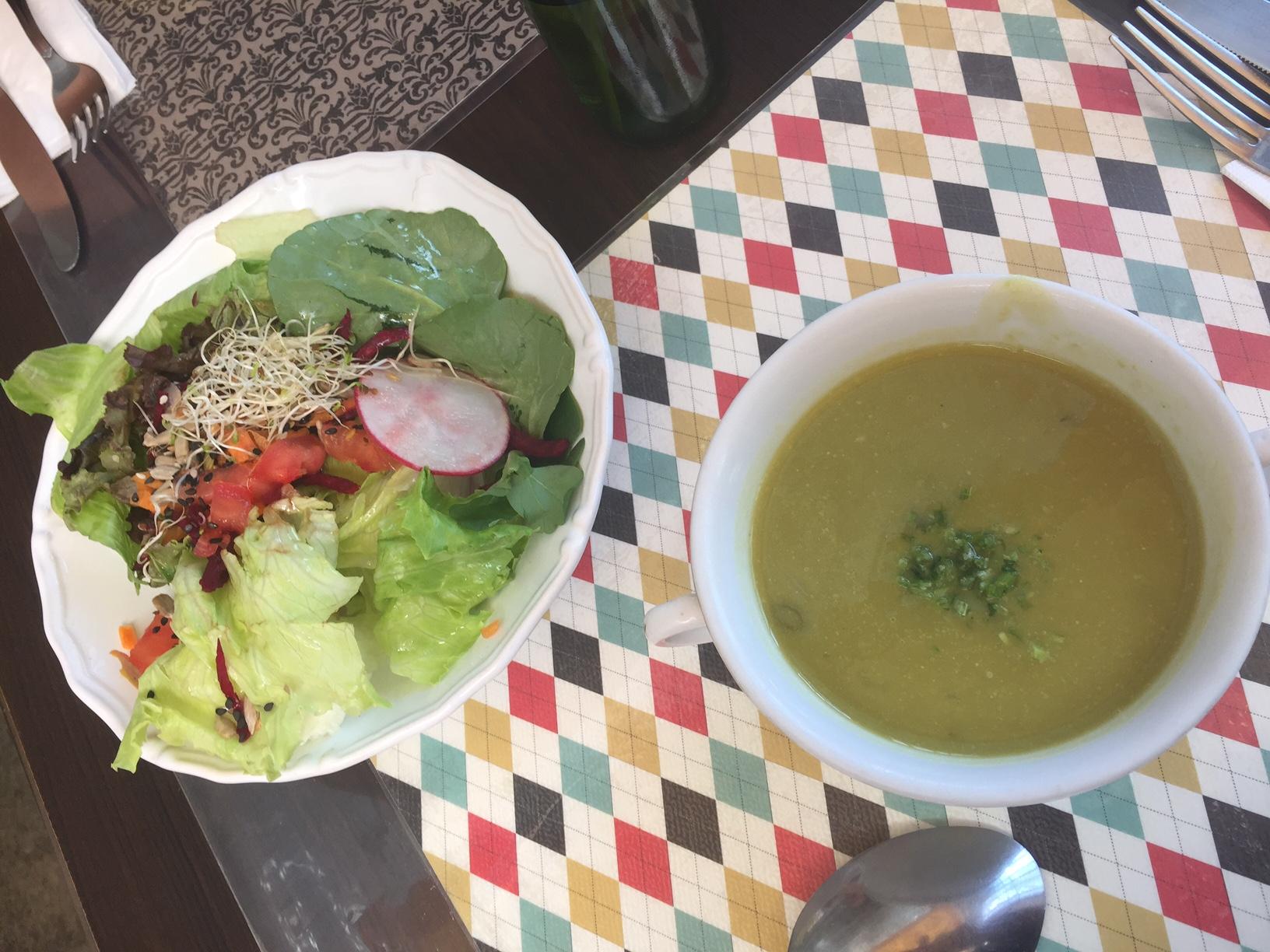 Para a entrada, saladinha ou sopa