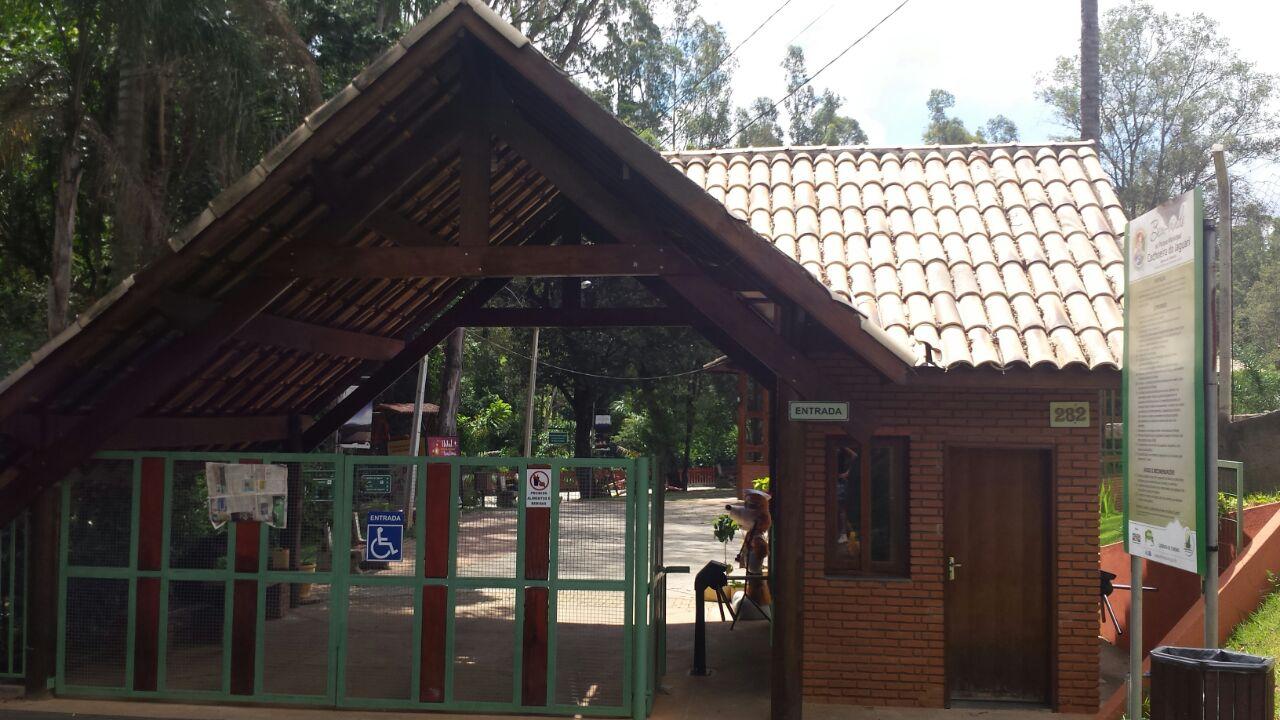 A entrada do Parque Da Cachoeira Jaguari