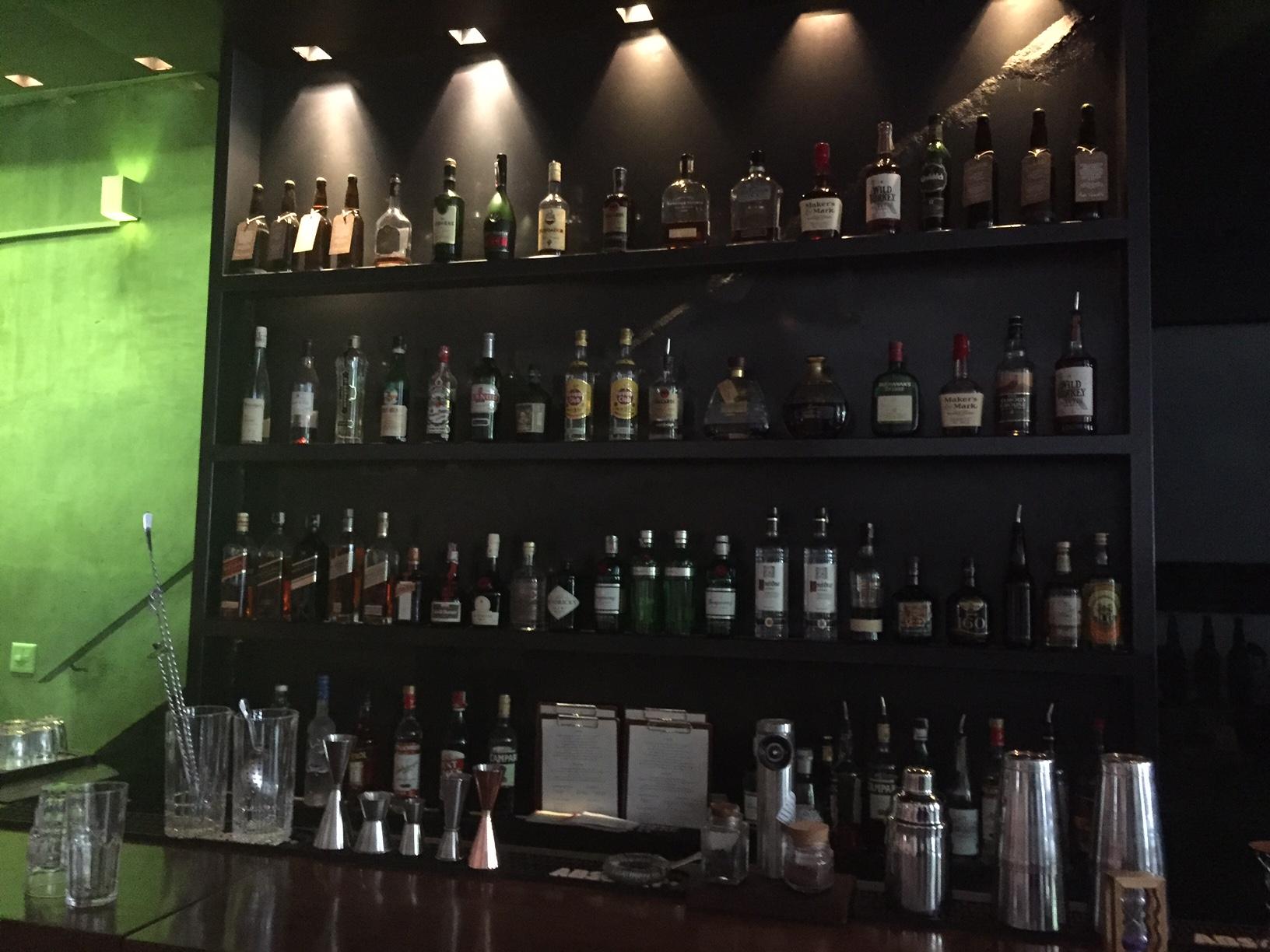 O bar, logo na entrada