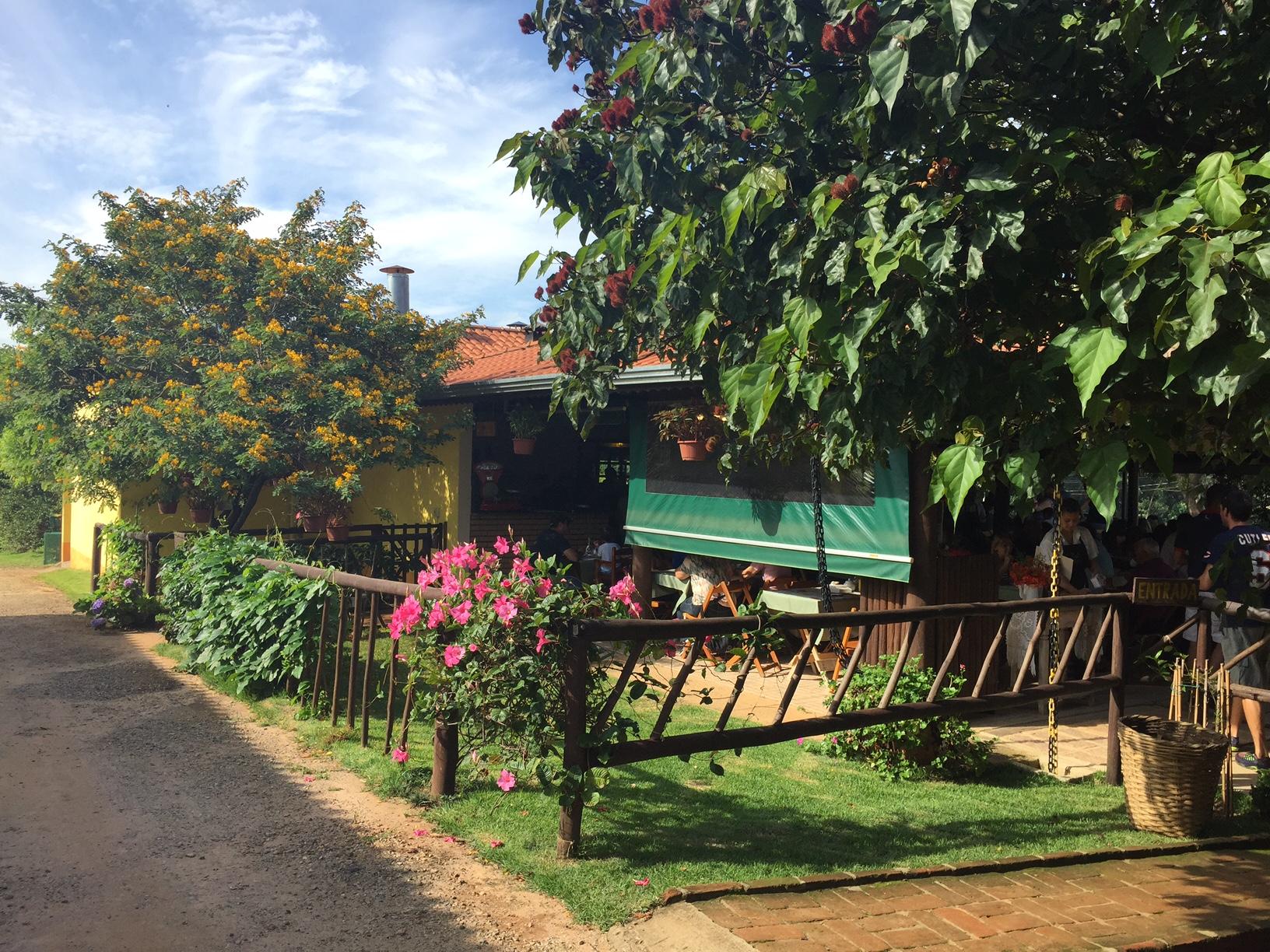 O restaurante, onde é servido o fato café da manhã rural